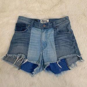 Revice Denim shorts size 26 USA two toned